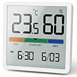 NOKLEAD Digitales Thermo-Hygrometer, Tragbares Thermometer Hygrometer Innen mit...