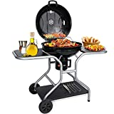 Aiglam BBQ Grill, Holzkohlegrill Kugelgrill 58cm Babecue Grill BBQ Smoker...