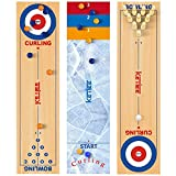 KETIEE 3 in 1 Curling and Shuffleboard Table-Top Game, 120x30cm Tisch Curling...