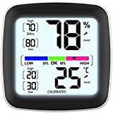 infactory Kfz Thermometer: Digitales Präzisions-Thermo-/Hygrometer mit...