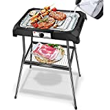 Tischgrill Standgrill 2000W, Barbecue-Standgrill, Grillfläche: 50cm x 34.5cm,...