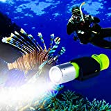 BlueFire Tauchen Taschenlampe, 1200LM XM-L2 LED Tauchlampe, Professionelle Helle...