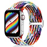 WNIPH Geflochtenes Solo Loop Armband Compatible with Apple Watch 38mm 40mm 42mm...