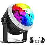 Discokugel LED Party Lampe OMERIL Partylicht mit Sternenmuster 10 Farbe RGBY...
